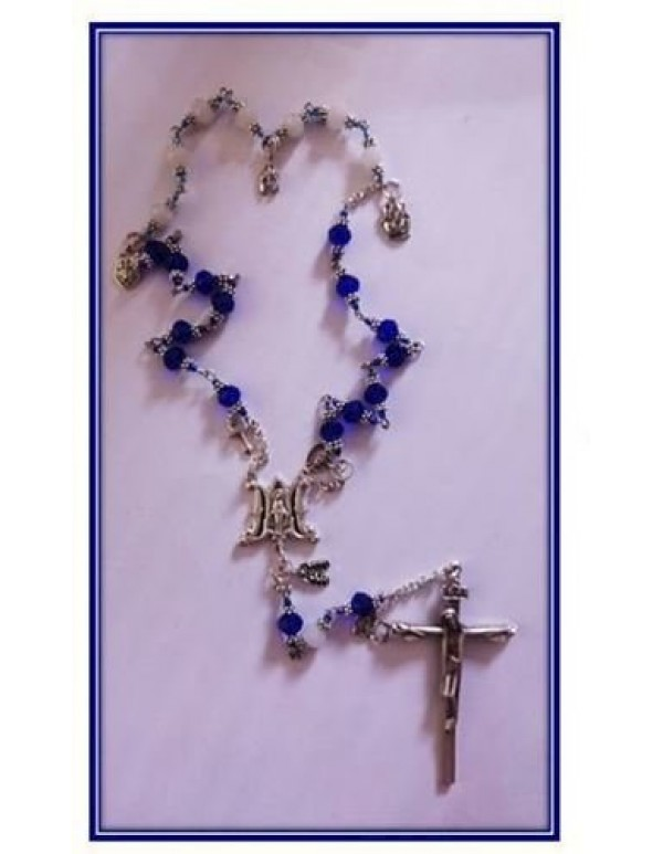 Armour of God Chaplet - Our Lady's Colours Royal blue & White - purity - Limited Edition