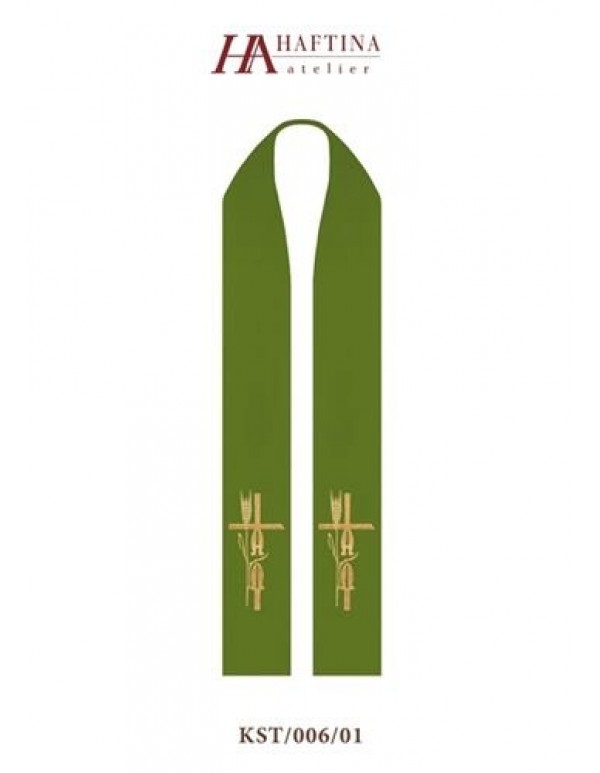 Alpha & Omega in Cross -  Stole in all Liturgical Colours