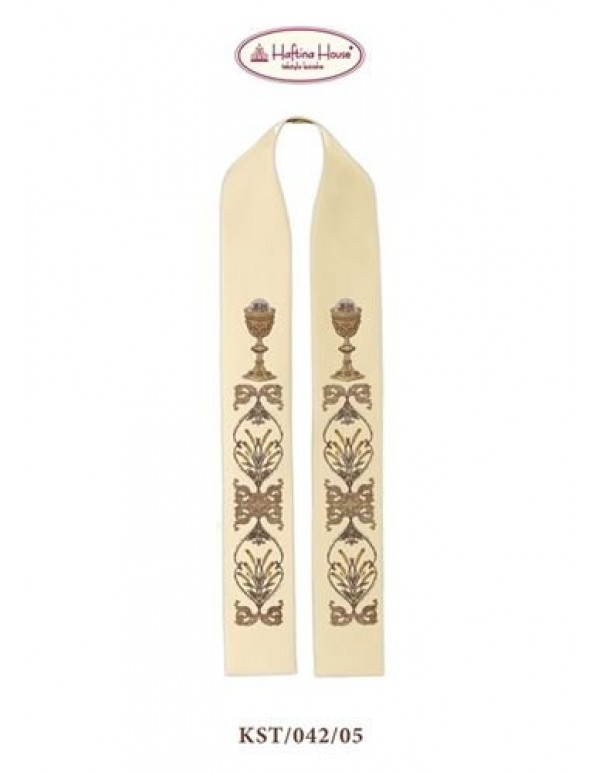 Chalice & Ornate Scrolls -  Stole in all Liturgical Colours