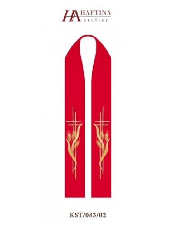 Double Cross in Golden Wheat - Stole in all Liturgical Colours