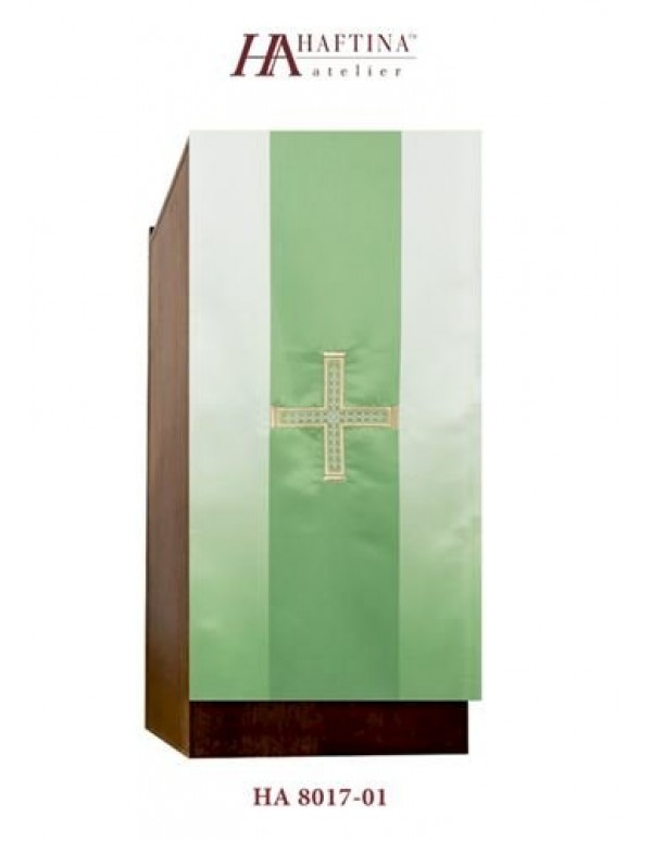 Lecturn Drape -  Golden Cross in gold in shades - All liturgical colours