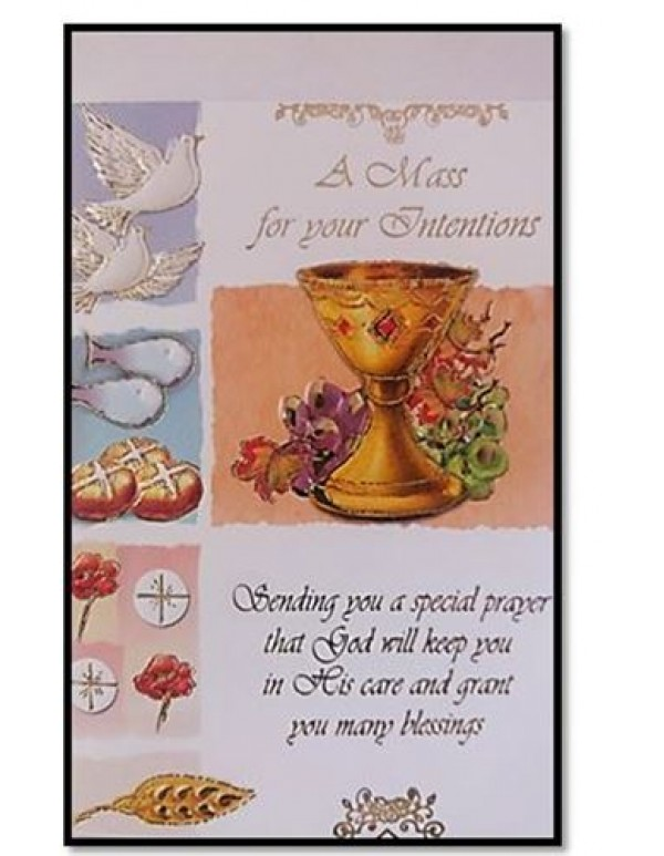 A Mass for Your intentions - Holy Card and Envelope