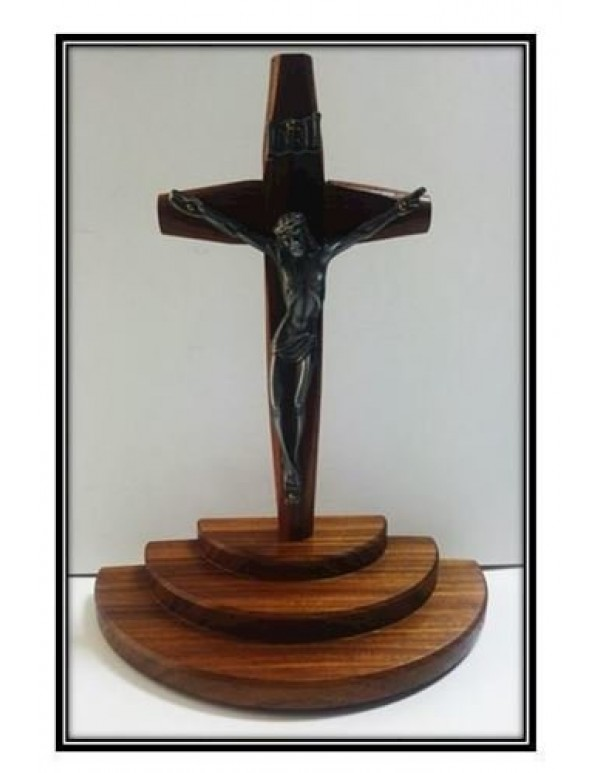 3 Step Crucifix Graded Latin Crucifix - Faith, Hope & Charity (Love)