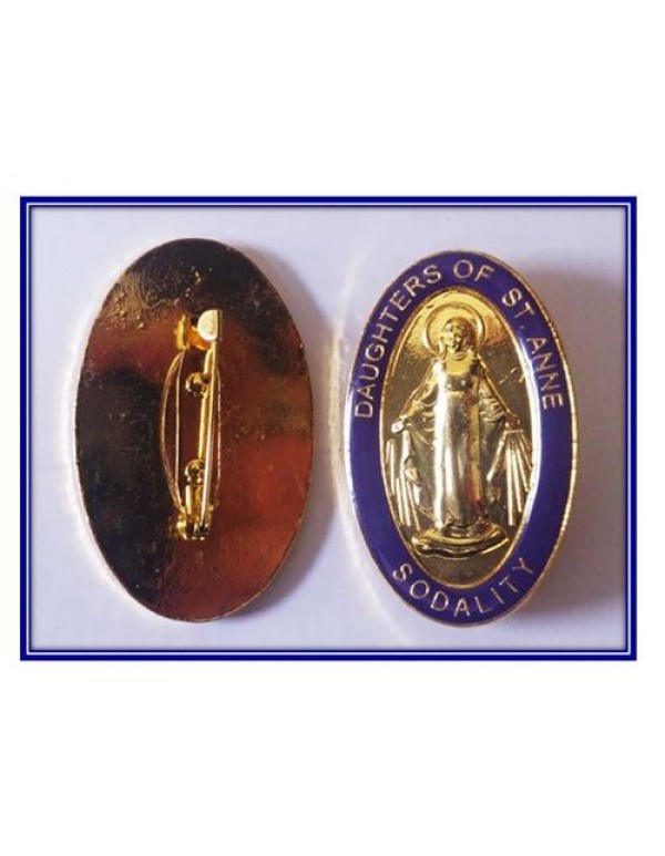 Daughters of St Anne Sodality Pin - 5cm long