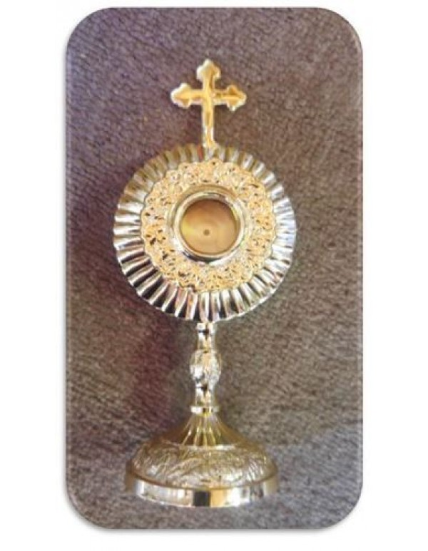 17cm Monstrance - with Removable Lunar - Solid Brass
