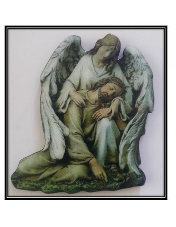 Guardian Angel Holding Jesus Magnet