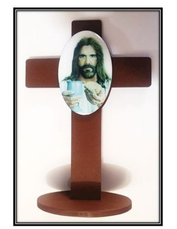 1st Holy Communion Standing Cross - Jesus with Chalice