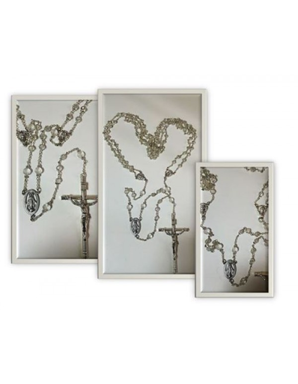 Austrian Glass Crystal Wedding Rosary / Lasso Rosary