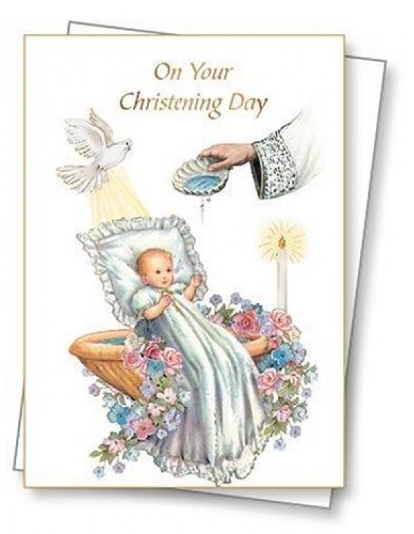 On Your Christening Day Greeting Card & Envelope