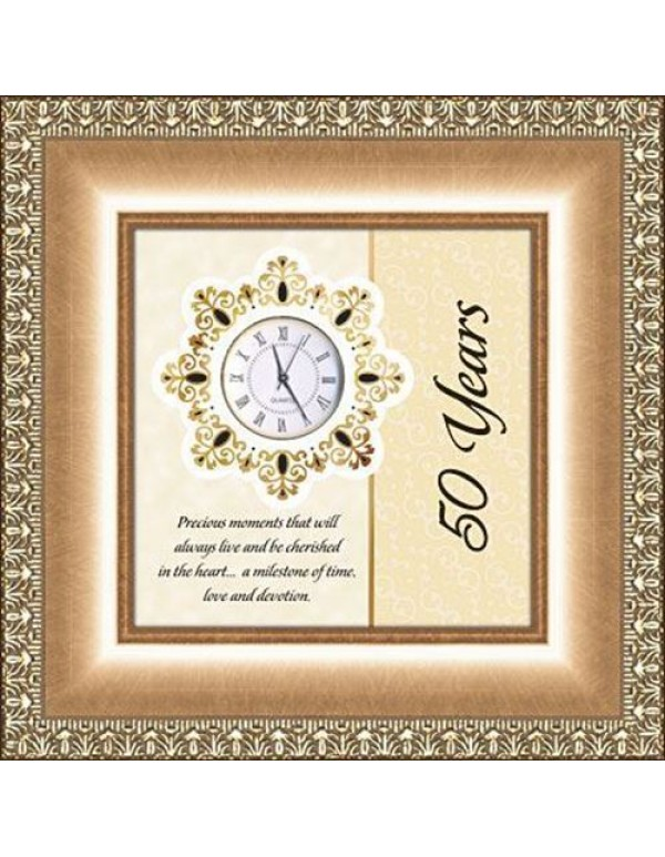 50 Year Anniversary Table Top Clock