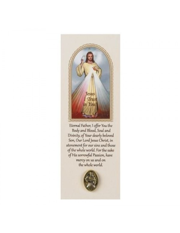 Divine Mercy Lapel Pin with Bookmark/Prayer Card