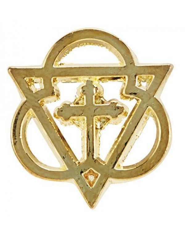 Holy Trinity Lapel Pin - gold plated