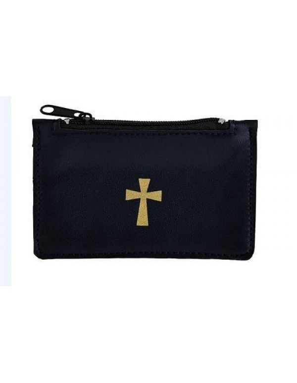 Faux Leather - Navy Rosary Case