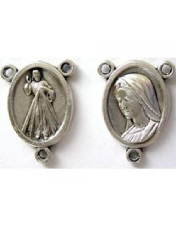 15mm Divine Mercy & Our lady of Medjugorje center piece
