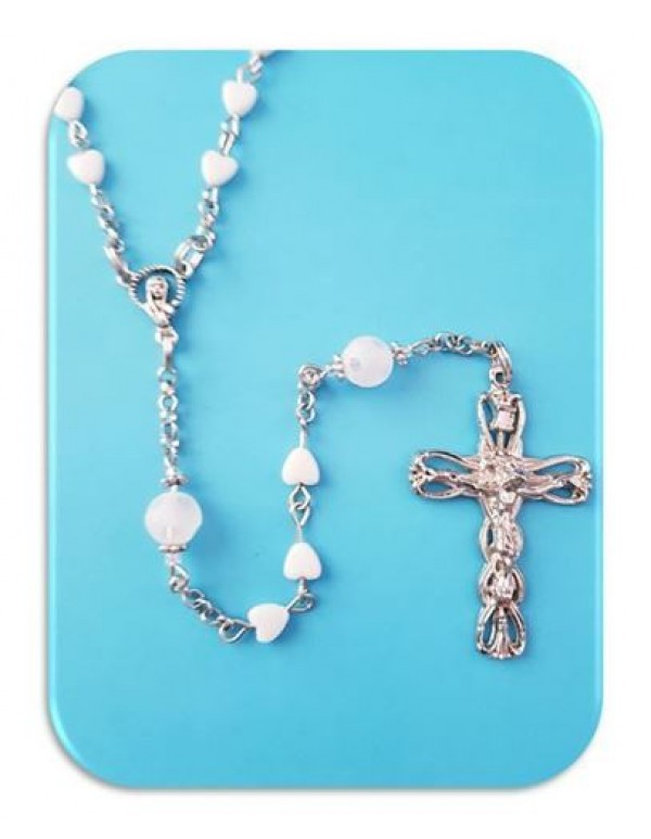 Mother of Pearl Heart Rosary - Limited Edition