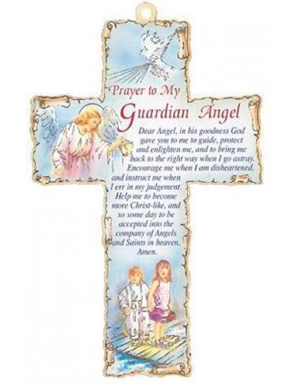 15cm - Prayer to my Guardian Angel Wooden Cross