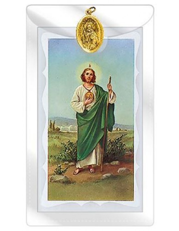 St Jude gold Medal with  Prayer Card