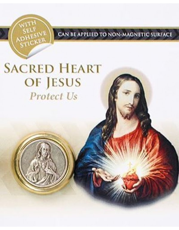 Sacred heart of Jesus Two Tone Magnetic Car Plaque