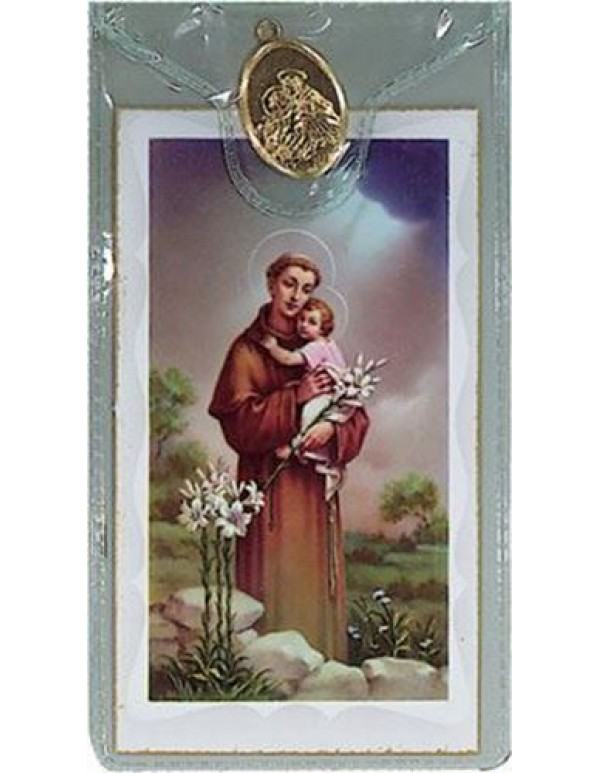 St Anthony Medal with Prayer Card
