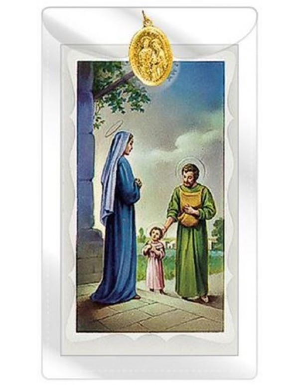 Holy Family Medal with Prayer Card
