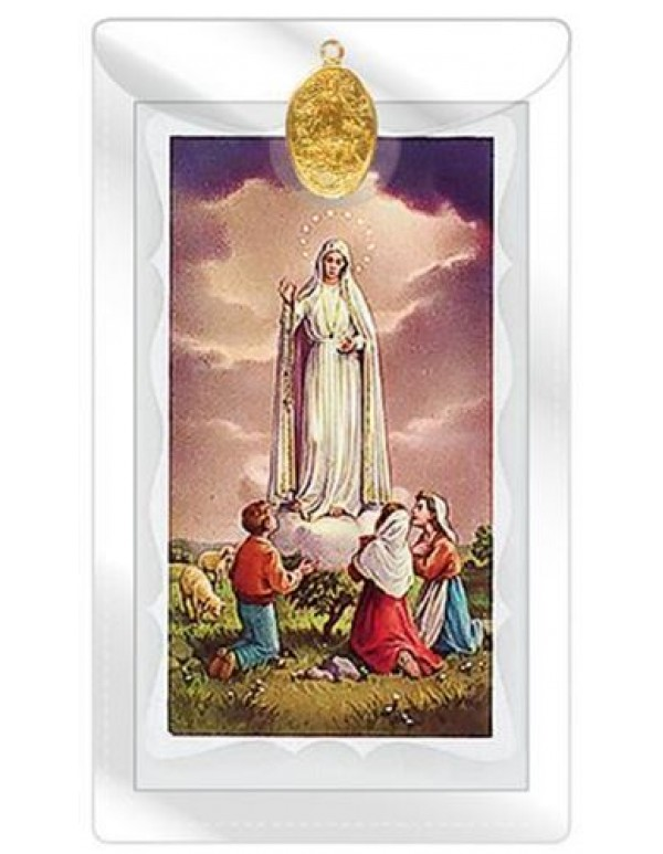 Fatima Medal with Prayer Card