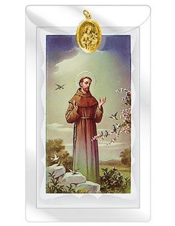 St Francis Medal with Prayer Card