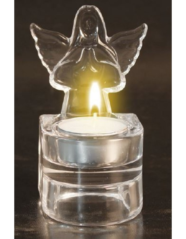 10cm Glass Votive Angel  tea light holder / Holy water font