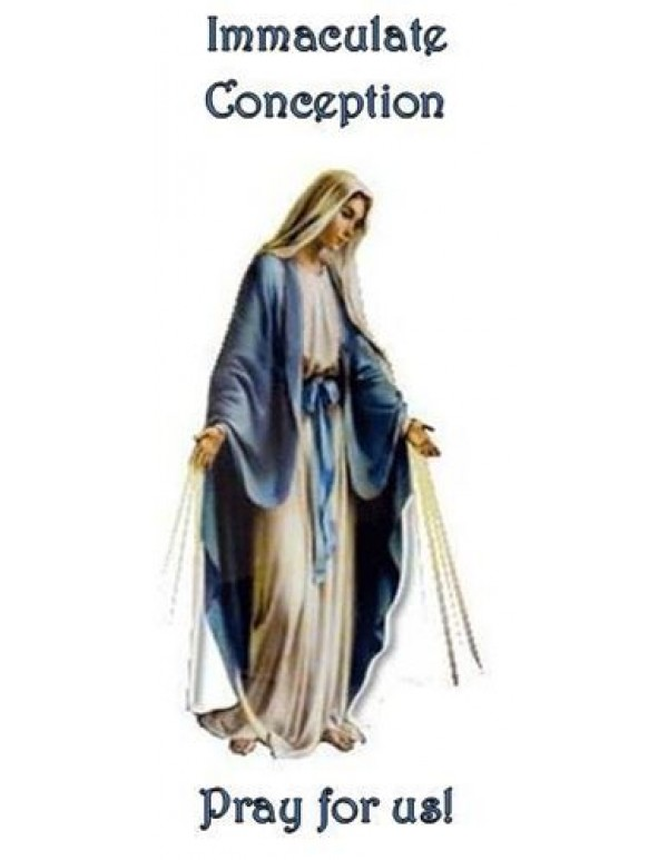 Immaculate Heart of Mary Bookmark / Mysteries of the Rosary