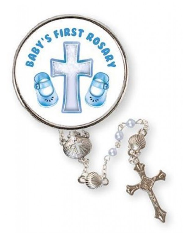 Baby's First Rosary - Blue