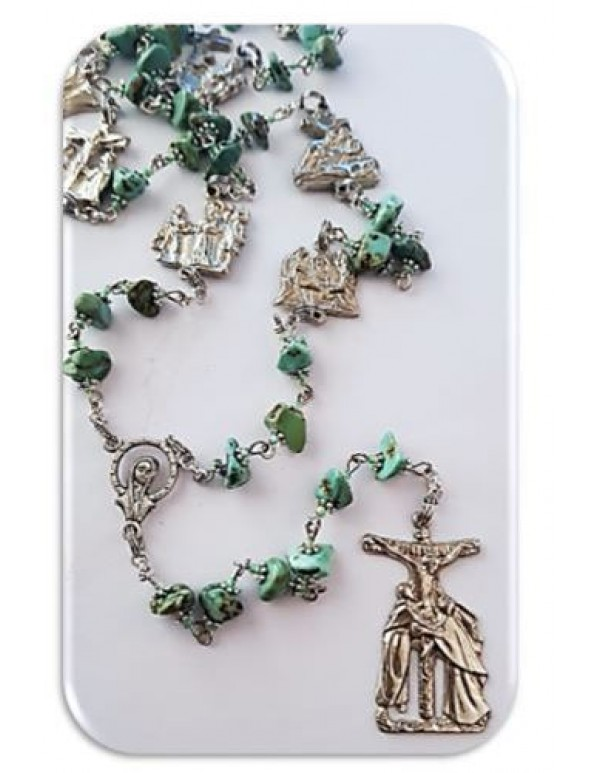 Stations of the Cross Chaplet - Turquoise