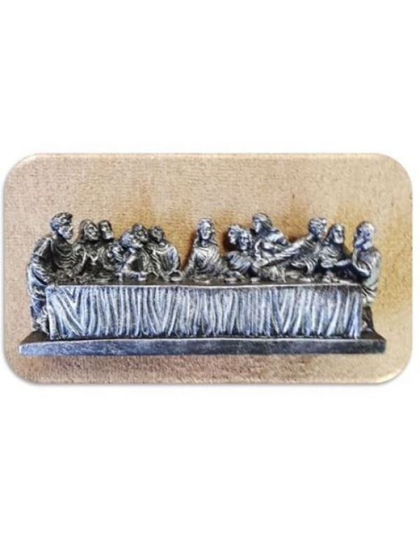23cm Last Supper in  Silver