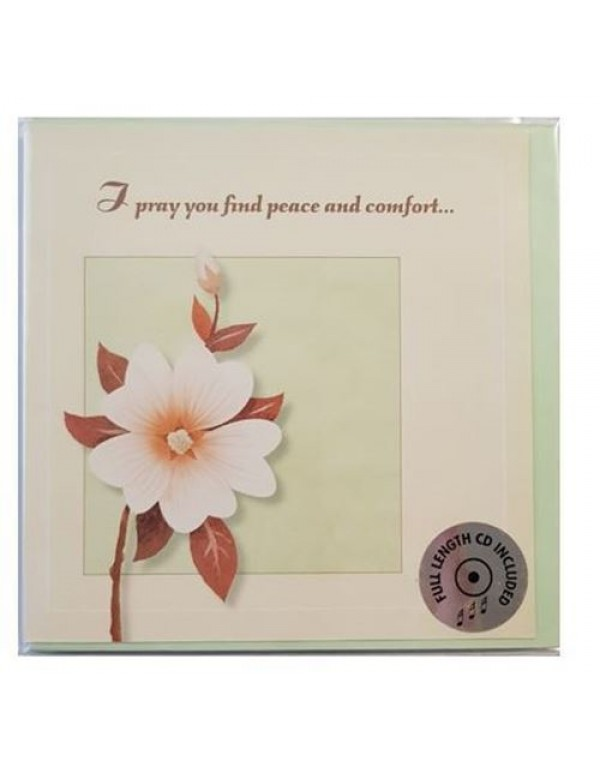 CD Greeting Card - I pray you find peace and comfort