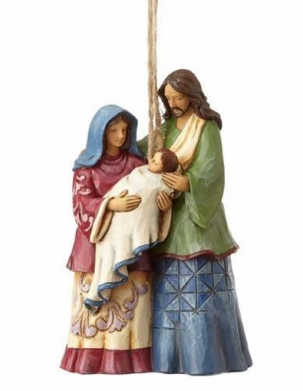 10.5cm Holy Family Hanging Ornament - Jim Shore