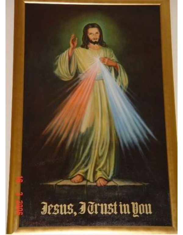 2m x 1.10m - Divine Mercy - Oil on Canvas