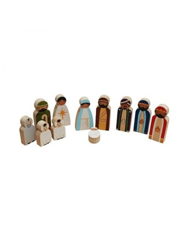 11 piece Children's Nativity Set - Dark Skinned Figurines
