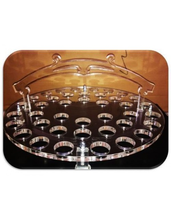 40 Hole - Perspex Communion Tray (no glasses)