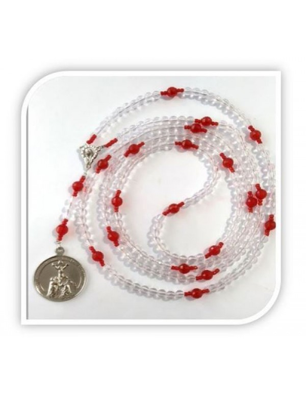 1000 Thank You's - Miraculous Rosary in Clear & Red