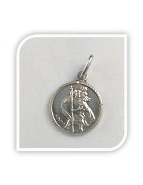 12mm St Christopher Sterling silver Pendant