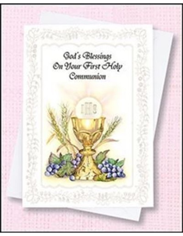 Ambrosiana Venezia - 1st Holy Communion card and envelope - girl