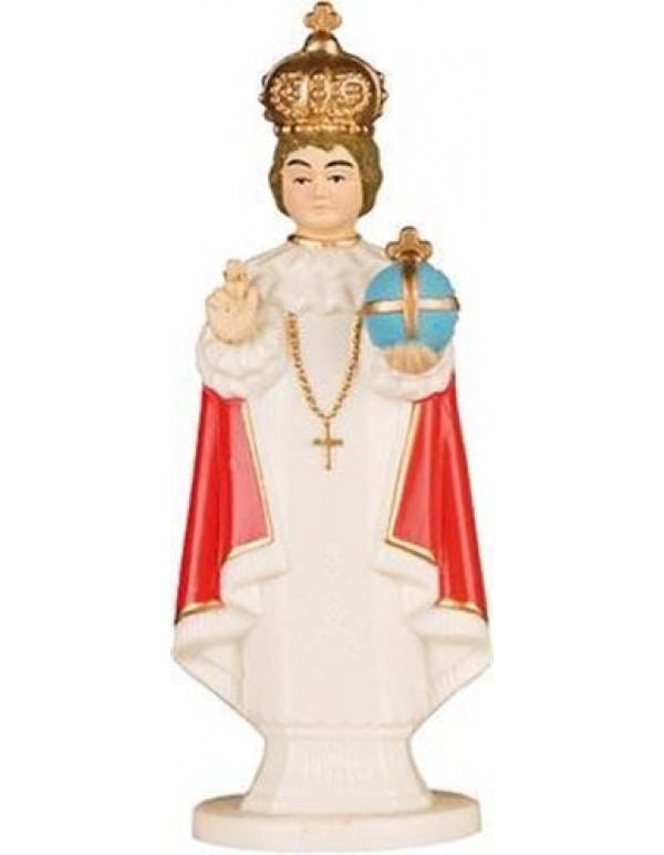 6.5cm Infant of Prague Plastic Car Statue