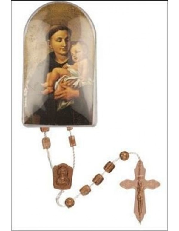 32cm Beige St Anthony Rosary in box