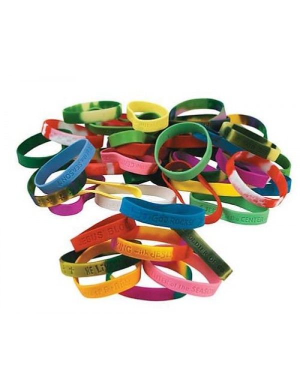 Multicolored Silicone Bracelet