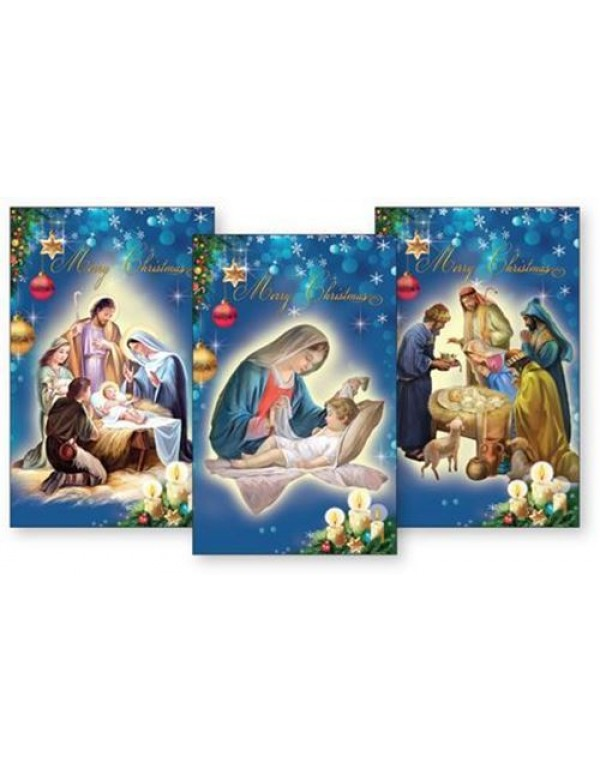 10 Pack Christmas Card with various Holy Family