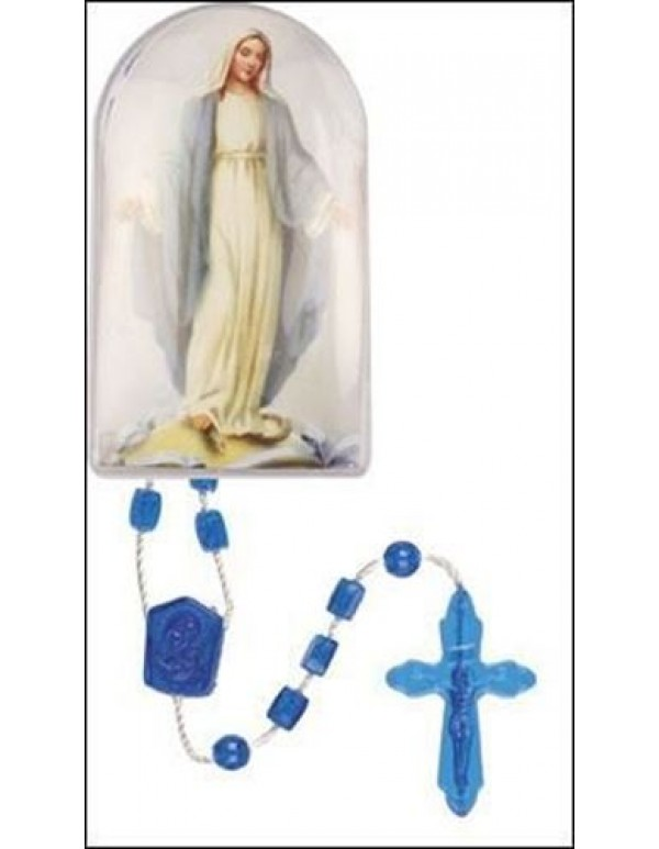 32cm Blue Our Lady Rosary in box