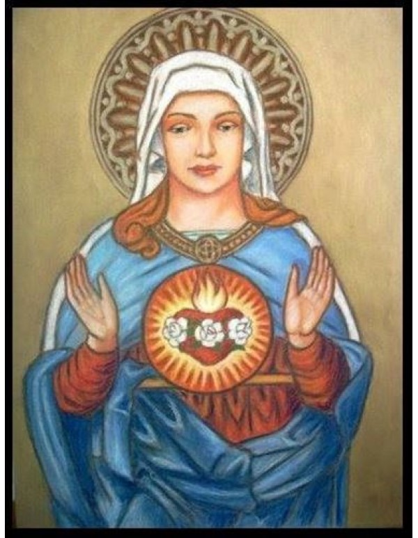 Immaculate Heart of Mary - Oil on Canvas