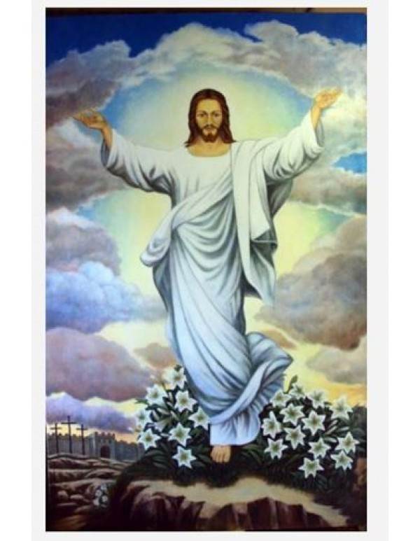 130cm x 210cm - Risen Christ - Oil on Canvas
