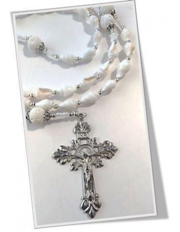 Shell Rosary with Coral Mysteries