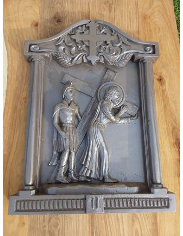 15 Stations of the Cross - Hand Carved Resin - 61 x 42 x 6cm