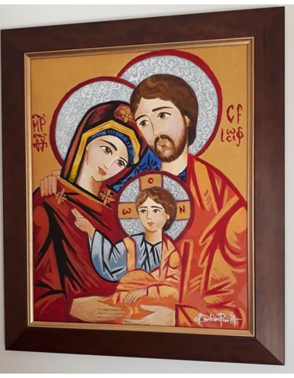 Holy Family Icon - Oil on Canvas - A2
