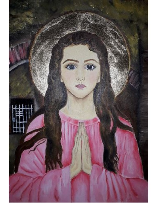 St Philomena - Oil on Canvas - A3